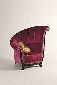 Art Deco Chair ~ Doesn't look very comfortable but the design makes up for that.