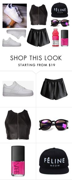 """Pink !!!"" by baludna ❤ liked on Polyvore featuring NIKE, T By Alexander Wang, NARS Cosmetics and Brian Lichtenberg"