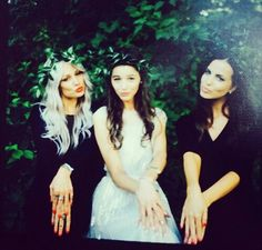 Lou, El, and Sophia today at the wedding.