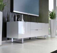 mesa para televisor eldridge blanco