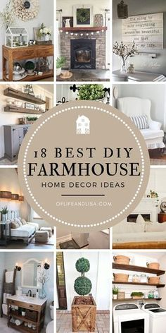 Be inspired to create the perfect farmhouse aesthetic with these DIY ideas! # DIY Home Decor farmhouse style 18 Best DIY Farmhouse Home Decor Ideas Modern Farmhouse Decor, Rustic Farmhouse, Rustic Decor, Farmhouse Style, Farmhouse Ideas, French Farmhouse, Farmhouse Design, Farmhouse Remodel, Farmhouse Homes