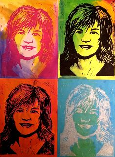 Pop Art Self-Portrait Warhol Printmaking Lesson