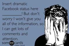 Drama on Facebook. Annoying.