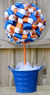 Would be cute as centerpieces for the athletic banquet