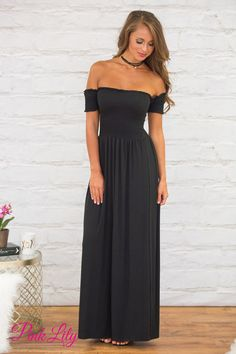 This soft dress is simply perfect for your next formal event or late night garden party! Featuring a classic shade of black, you will look elegant and chic at any occasion!