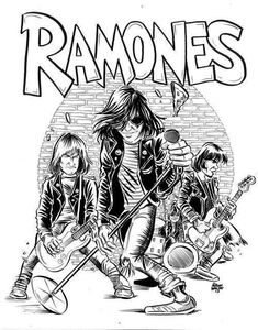 Ramones Punk Art, Arte Punk, Rock Posters, Band Posters, Concert Posters, Chicas Punk Rock, Iron Maiden, Rock And Roll, The Beatles