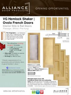 VG Hemlock Shaker | French Stile U0026 Rail Interior Door
