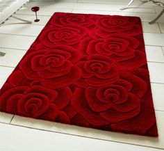 I Like The Idea Of Red Roses On A Rug For The Shop It Would Be