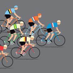 Peloton Cycling Art Print, World Road Race Championships, Gift for Cyclist Bikes Games, Raphael Angel, Tour Posters, Great Pic, Cycling Art, Bike Art, Grand Tour, Road Racing, Gym Workouts