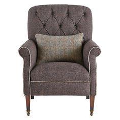 Buy Harris Tweed for John Lewis Flynn Armchair, Peat/Bracken Online at johnlewis.com