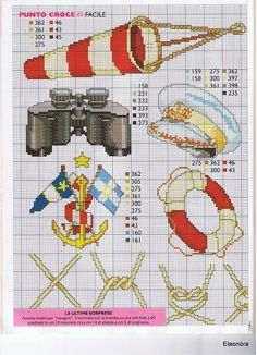 sailor cross stitch part - 2 Cross Stitch Sea, Cross Stitch For Kids, Cross Stitch Boards, Counted Cross Stitch Patterns, Cross Stitch Designs, Diy Embroidery, Cross Stitch Embroidery, Cross Stitching, Sailors Cross