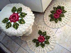 jogo de banheiro #juego de baño de #crochet
