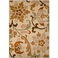 This Brown And Taupe Patterned Area Rug Will Ground Your