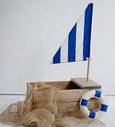 barco de madera vintage prop de barco bebé recién por Mamamada