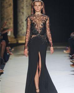 robe longue noire d'elie saab