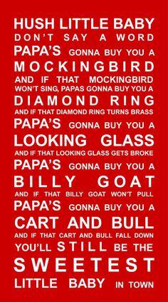 one of my favourite nursery songs