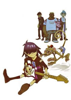 Art Jamie Hewlett Comic Character, Character Design, Jamie Hewlett Art, Monster Museum, Art Puns, Russel Hobbs, Demon Days, Gorillaz Art, Memes