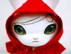 "Custom Red Rider Hood 8"" Dunny by Björnik"