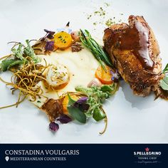 Constadina Voulgari will represent the Mediterranean Countries with her winning sous vide signature partridge dish: 'Ellinon Gefsis' with mousseline pastinacas, wild root and salad.