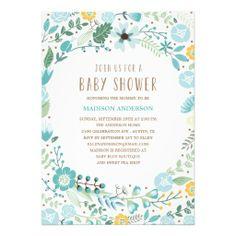 Flower Garden   Baby Shower Invitation