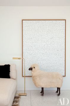 Interior Design Contemporary Living Room Architectural Digest Daniel Romualdez Los Angeles (Sheep by Les Lalanne, Painting by Sean Landers) Architectural Digest, Los Angeles Homes, Home Trends, Home And Deco, Design Case, Contemporary Decor, Interior Inspiration, Interior Ideas, Room Inspiration