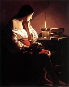Georges de la Tour, Magdalene with the Smoking Flame, 1640.