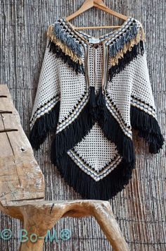 Crochet beautiful and delicate poncho. Free patterns for crochet poncho. Crochet beautiful and delicate poncho. Free patterns for crochet poncho. Crochet Bolero, Poncho Au Crochet, Bonnet Crochet, Crochet Poncho Patterns, Crochet Coat, Crochet Shawls And Wraps, Crochet Jacket, Crochet Scarves, Crochet Clothes