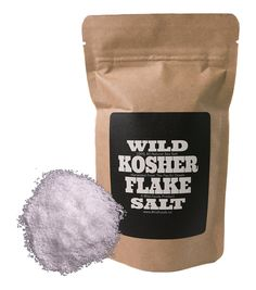 Kosher Flake Sea Salt by Wild Foods, Unrefined, 100% natural, Pacific Ocean Harvested Sea Salt for Cooking, Marinating, Brining, Finishing Healthy Recipes (4 ounce) *** You will love this! More info here : Fresh Groceries