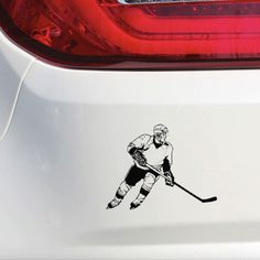 Personalized Hockey wall sticker for your room! Design your room with hockey player sticker on the wall. It is so easy to upload and also it is super easy to take off, without any scratch on your wall. Hockey Goalie, Hockey Mom, Hockey Players, Funny Hockey, Ice Hockey, Wall Stickers Room, Car Window Stickers, Wall Decal, Decals