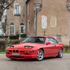 Pop-up headlights - BMW 850CSi (1993), modern classic, restored coupe, full red paintwork, with black leather interior, 380hp output, produced by 5.576ccm 12-cylinder engine, manual 6-speed transmission. Get all vending details at www.classic-trader.com/pn232237 Subscribe for more classics! 6 Speed Transmission, Bmw Classic Cars, Classic Trader, Leather Interior, Modern Classic, Cars For Sale, Engine, Manual, Black Leather