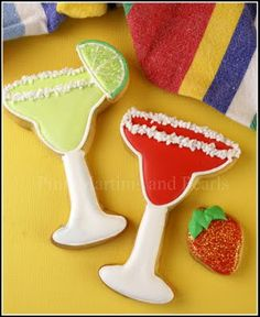 Decorated Margarita Cookies! They're not just for Cinco de Mayo anymore.