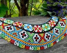 Traditional Ukrainian Beaded NECKLACE Gerdan Bead Necklace