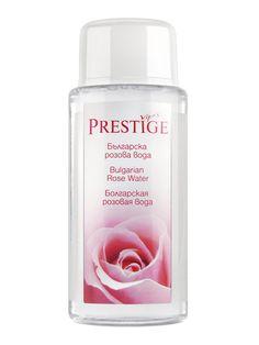 Apa de trandafiri Prestige - 135 ml - Pentru masarea scalpului, reduce inflamatiile, favorizeaza circulatia sangvina, dar si cresterea parului. Poate fi folosita ca after-shave, tonic sau demachiant. Sparkling Ice, Rose Water, Bottle, Flask, Jars