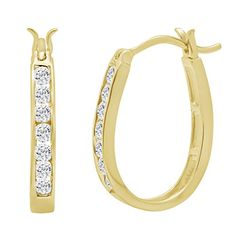 10K Yellow Gold Diamond Hoop Earrings ( 1/2ct tw) AGS Certified  http://stylexotic.com/10k-yellow-gold-diamond-hoop-earrings-12ct-tw-ags-certified/