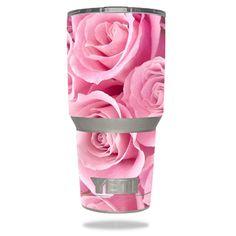 Pink Roses-YETI 30 oz Rambler Tumbler