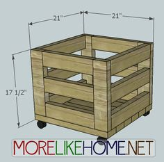 More Like Home: Day 14 - Build a Simple Storage Bin