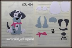 Marianne Design - Collectables - Eline`s Puppy Puppy Crafts, Kids Punch, Marianne Design Cards, Card Making Templates, Dog Cards, Felt Patterns, Animal Cards, Stuffed Animal Patterns, Stuffed Animals