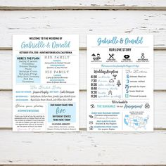 {MELLIE BELLIE'S BOUTIQUE}  ● Printable Unique Modern Infographic Wedding Program ●  ▸▸▸▸▸▸▸▸▸▸▸▸▸▸▸▸▸▸▸▸▸▸▸▸▸▸▸▸▸▸▸▸▸  {ABOUT THIS LISTING}  ● This listing is for a printable personalized wedding program, sent to you as a digital file in JPEG and PDF format. ● Program is are 8x5.5, unless requested otherwise (which constitutes an additional fee) ● Each side of the program is customized with fun details about your wedding, guests, love story, and the planning involved. Fun for guests to…