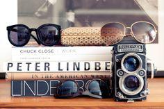 vintage camera + shades