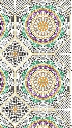 Transcendent Crochet a Solid Granny Square Ideas. Inconceivable Crochet a Solid Granny Square Ideas. Motif Mandala Crochet, Crochet Bedspread, Granny Square Crochet Pattern, Crochet Diagram, Crochet Stitches Patterns, Crochet Chart, Crochet Squares, Diy Crochet, Crochet Doilies