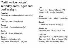 Yuri On Ice Birthdays Ages And Zodiac Signs Fond D Ecran Kpop Kpop Fond Ecran