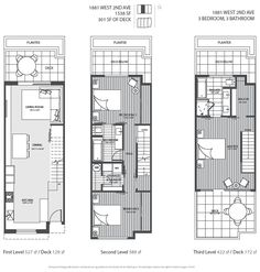 3 level Vancouver luxury home floor plan.