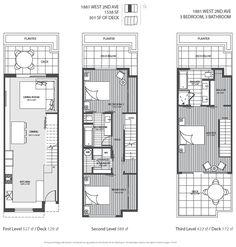 3 level Vancouver luxury home floor plan.
