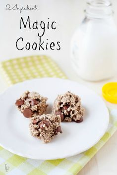 These are easy to make and healthy! With 2 ingredients, these magic cookies are the perfect snack food or treat!