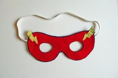 Superhero masks made out of Felt Sheets! Template included.