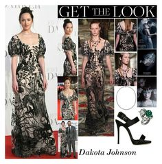 """""""Dakota Johnson Fifty Shades Darker London UK Premiere February.9.2017"""" by valenlss ❤ liked on Polyvore featuring Alexander McQueen"""