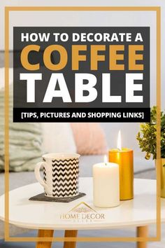How to Decorate a Coffee Table [Tips, Pictures and Shopping Links] - Home Decor Bliss - Itaian Pizza Family Room Decorating, Decorating On A Budget, Easy Crafts To Make, Tv Decor, Decorating Coffee Tables, Beautiful Living Rooms, Modern Table, Living Room Inspiration, White Decor