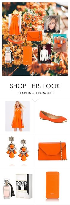 """""""Formal Orange"""" by alexhoran0720 on Polyvore featuring Lumier, SHOUROUK, Valextra, Tumi, women's clothing, women, female, woman, misses and juniors"""