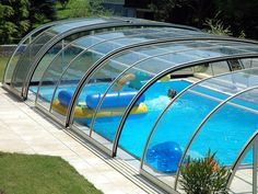'Tropea' medium pool enclosure by TPEC. Swimming Pool Enclosures, Swimming Pools Backyard, Swimming Pool Designs, Pool Landscaping, Pool Screen Enclosure, Swiming Pool, Luxury Pools, Small Pools, Dream Pools