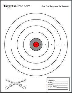A standard shooting target with scored sections. Especially good for long-range rifle shooting or handguns. Whether it's a casual trip Pistol Targets, Rifle Targets, Paper Shooting Targets, Field Target, Nerf Games, Nerf Birthday Party, Rubber Band Gun, 22lr, Shooting Sports